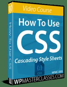 How To Use CSS - WPMasterclasses.com