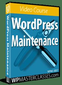 WordPress Maintenance - WPMasterclasses.com